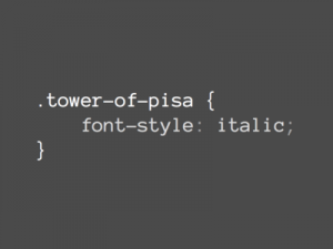 Tower of Pisa code pun