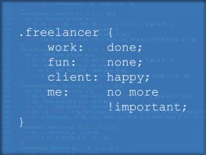 Freelancer code pun